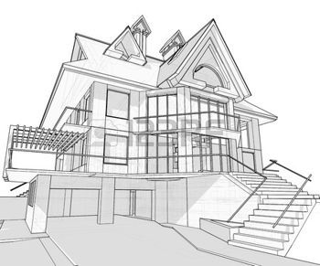 how to draw an isometric house