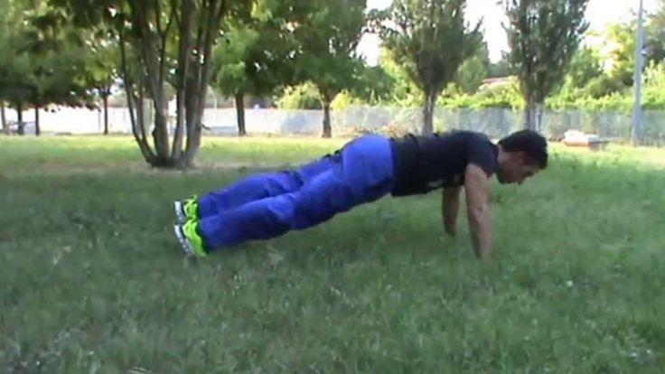 Push up variant leg rotate - Stefano Grifa