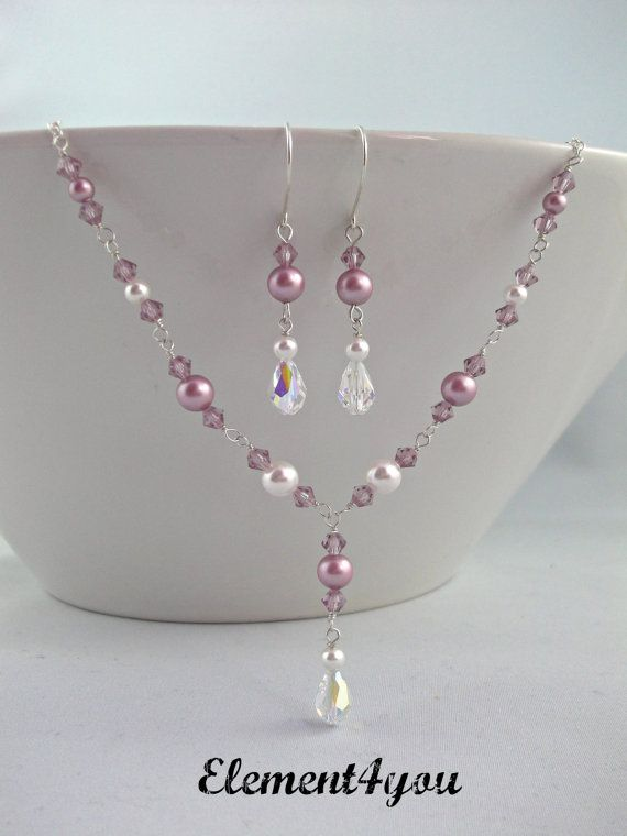 Bridesmaid Jewelry Set Bridesmaid necklace Maid of by Element4you, $42.00