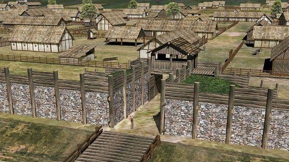 Murus Gallicus and part of Gallic oppidum
