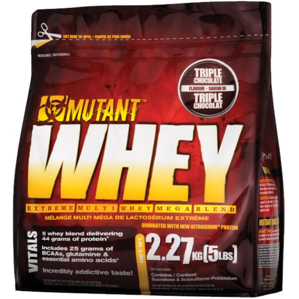 Mutant Whey 2.2Kg helps in muscle growth and increases nitrogen retention faster than other whey proteins.