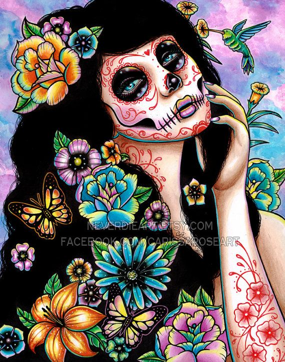 219 Best Images About Sugar Skull Art On Pinterest Pin