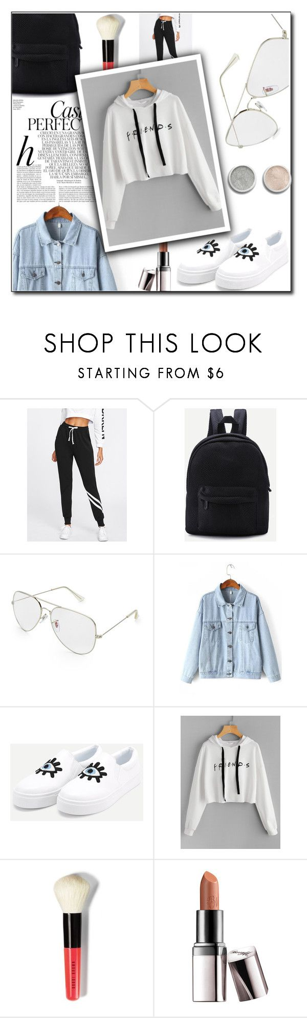 OOTD - Friends Logo by artbyjwp on Polyvore featuring Bobbi Brown Cosmetics, Barry M, Terre Mère and Whiteley