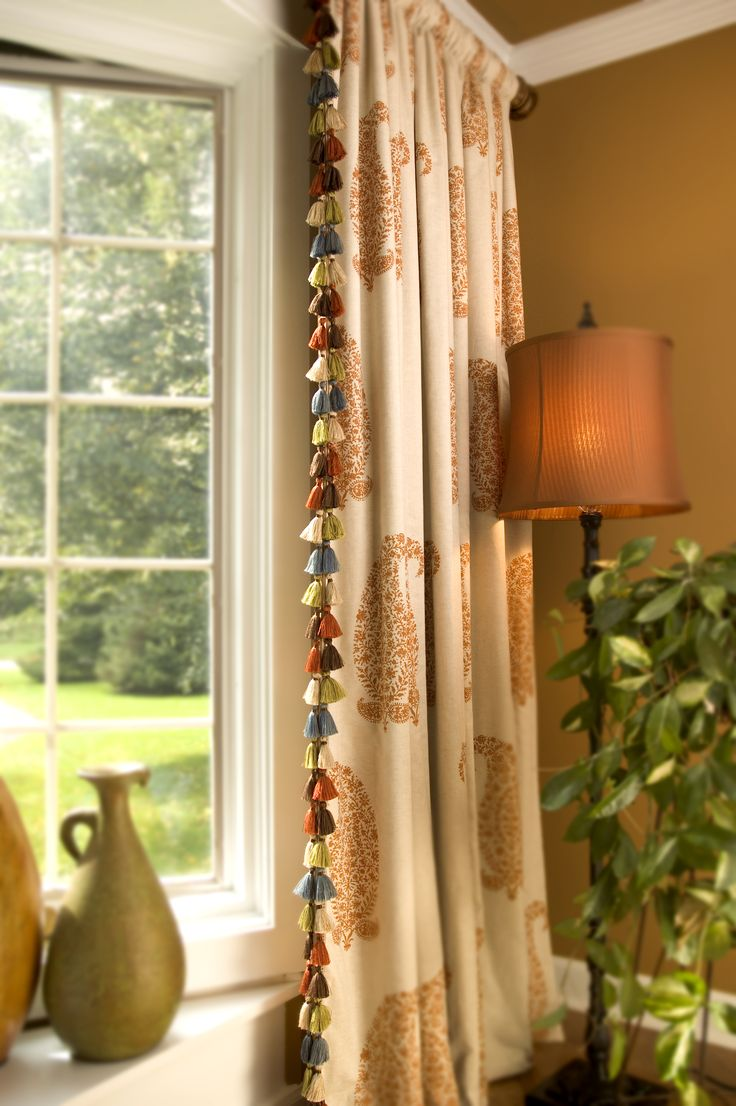 Decorative Curtains For Living Room: 217 Best Images About Decorative Trims / Tassels On
