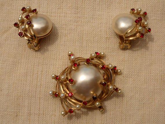 Set di gioielli Vintage CORO 1950. Parure di gioielli vintage