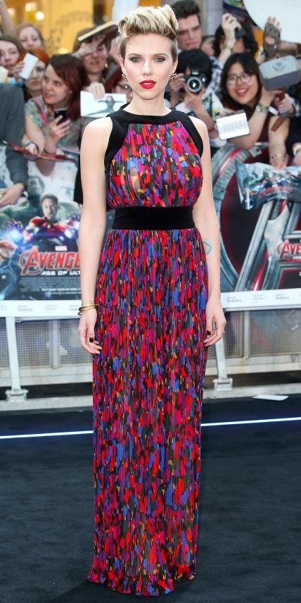 Scarlett Johansson'sBest RedCarpet Looks Ever - In Balmain, 2015 from #InStyle
