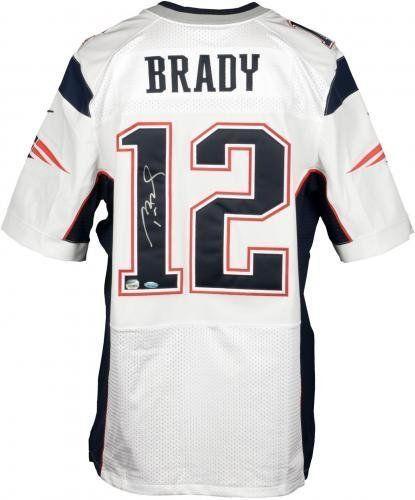 Tom Brady New England Patriots Autographed White Elite Jersey Fanatics Authentic #SportsMemorabilia