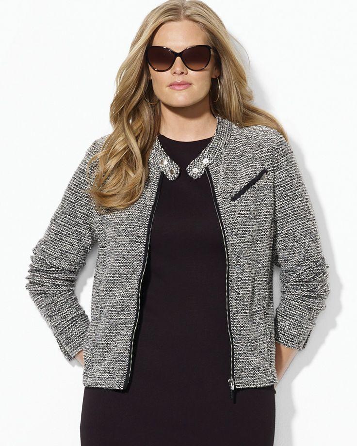 Vogue Plus Size Magazine   Plus Size Fashion Find of the Day…Lauren by Ralph Lauren Zip Front ...