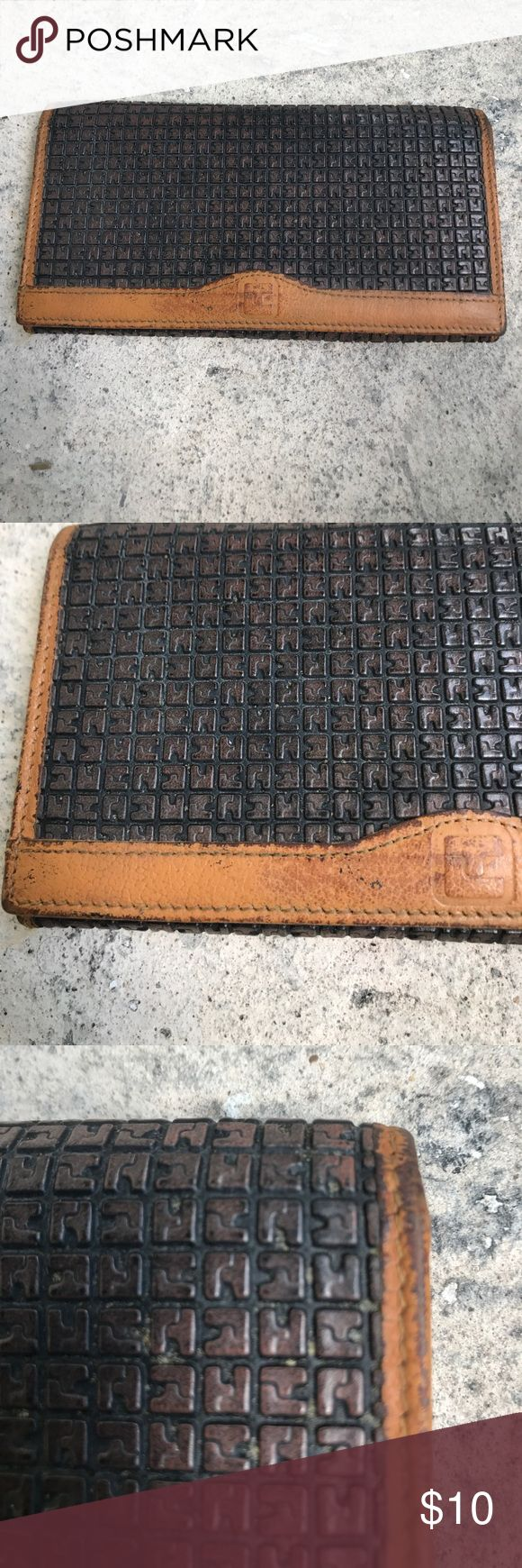 Vintage Ted Lapidus Wallet As you can see from the pictures this Wallet is not new but if you are into vintage you could re-stain it and have a very nice old vintage wallet. Ted Lapidus Bags Wallets
