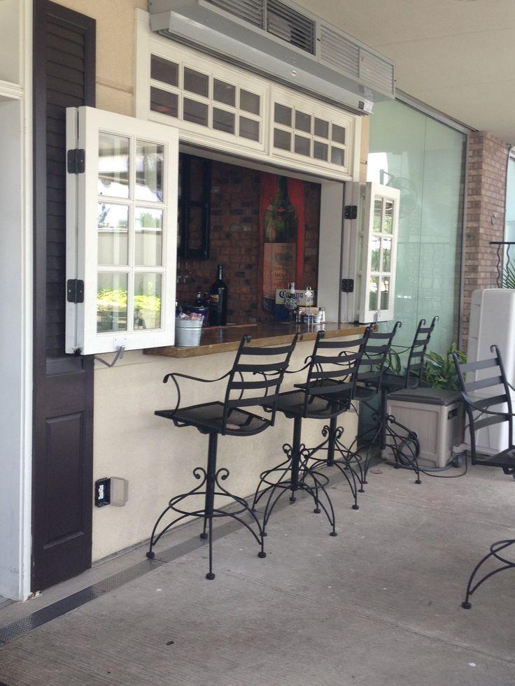 Best 25 pass through kitchen ideas on pinterest half for Exterior kitchen door with window