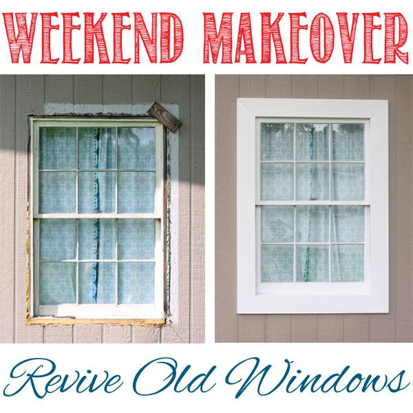 How to revive recycled supplies to bring old windows back to life.