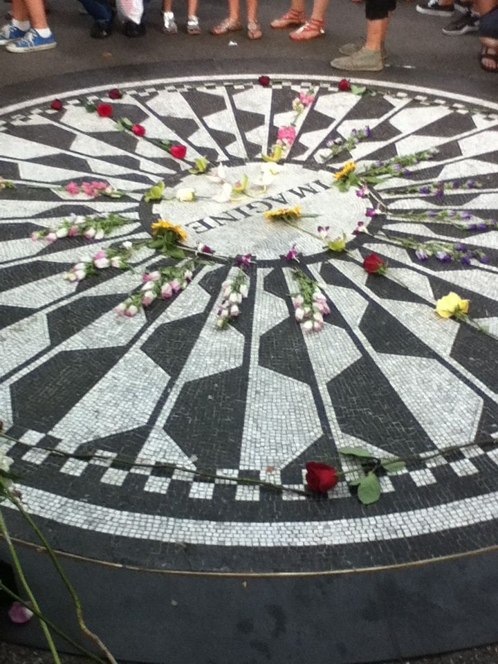 Strawberry Fields Memorial.. #JohnLennon #CentralPark #NYC
