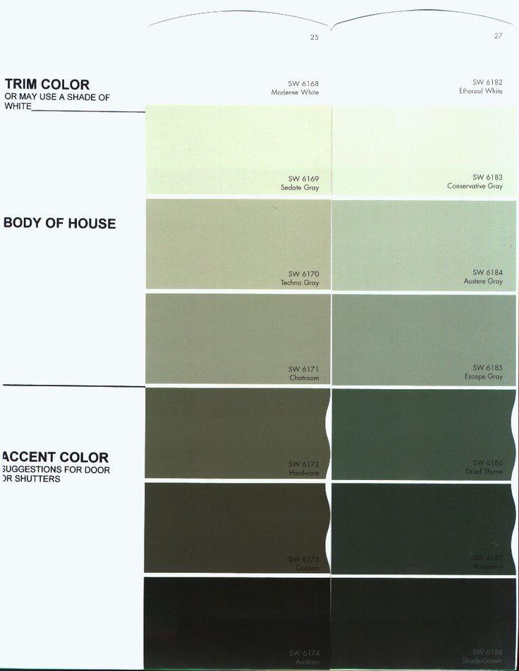 SW Austere Gray And Escape Gray Favorite Paint Colors