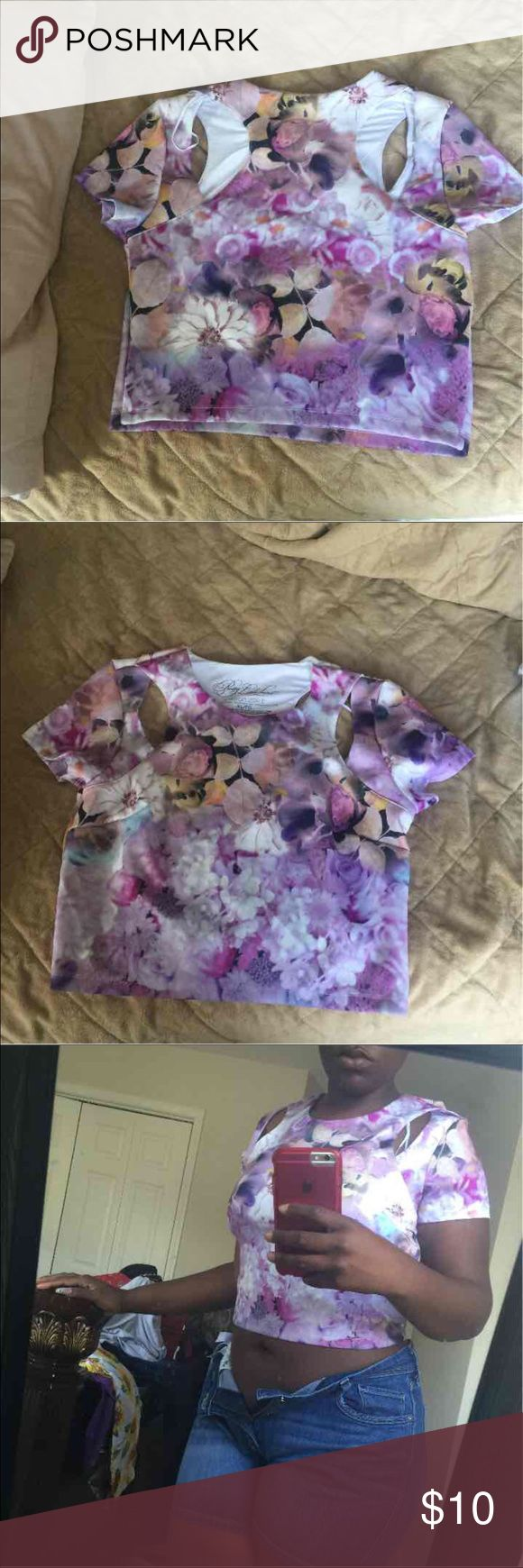 Multi color crop top Multi color crop top Pretty little liars by Aeropastle Aeropostale Tops Crop Tops