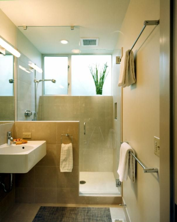 Photo of Brown Minimalist Bathroom project in Seattle, WA by Colleen Knowles Interior Design