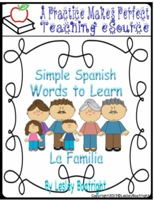 Simple Spanish Words to Learn: La Familia |