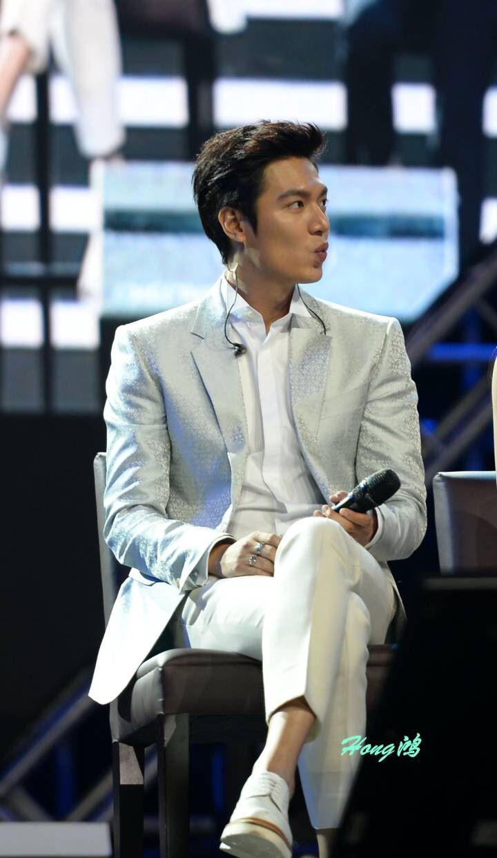 Two habits at once : Pouching lips & Crossing legs. It's Lee Min Ho,