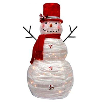 Holiday Living 60-in Red and White Polymesh Lighted Snowman Outdoor  Christmas Decoration - 179 Best Pretty Christmas Lights Images On Pinterest Christmas