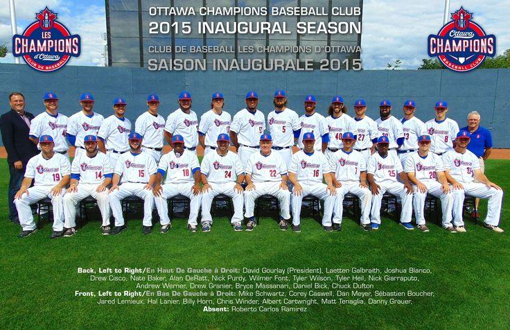 Team photo of the 2015 inaugural Ottawa Champions Baseball Club