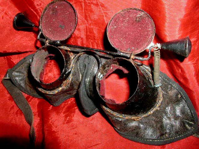 CLASSIC HISTORIC Antique 1880s MASONIC INITIATION RITUAL HOODWINKS Lodge Regalia