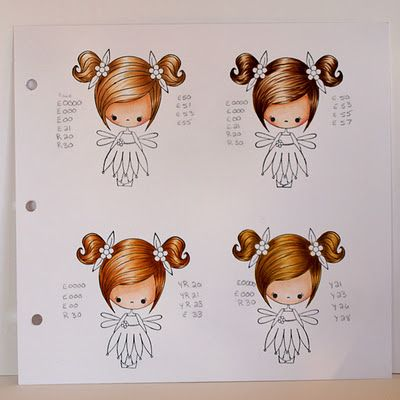 some hair color combos: Copic Markers Coloring, Copic Hair Colors, Box Market, Jojo S Scraps, Guest Designer, Beautiful Hair Color, Feet, Pie Guest