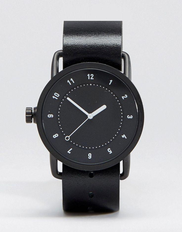 Immagine 1 di TID - No 1 - Orologio con cinturino in pelle nera