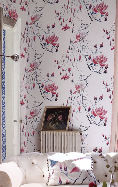 Madame Butterfly Peony från Designers Guild