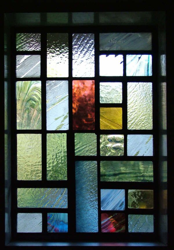 Contemporary Stained Glass Front Door, Surrey, 2009.  I would like this even more if it contained slab glass.