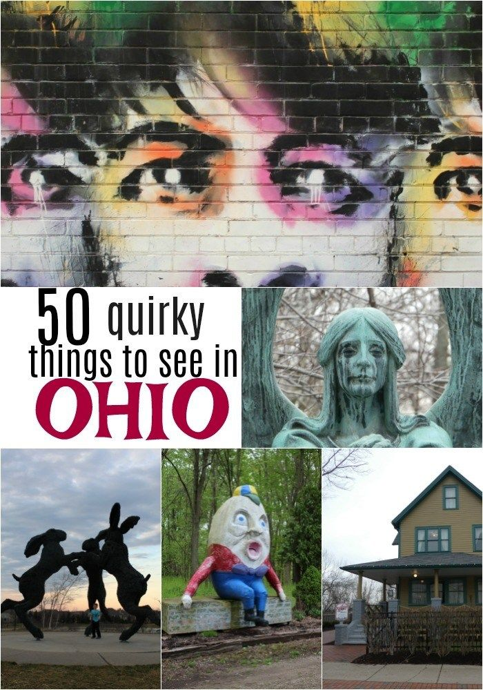 Do you love roadside attractions? Here are 50 fun and quirky things to see in Ohio to keep your next road trip through the Buckeye State interesting.  .