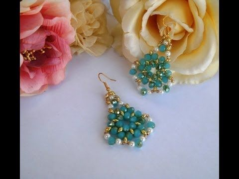 DIY Il mio 1° Tutorial Orecchini NOTE con Twin Beads o Superduo, Cipollotti, Perle - Earrings Bijoux - YouTube