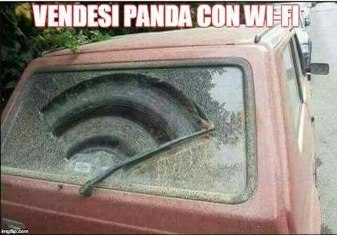 Da #podio... #fiat #panda #wifi #ridere #funny