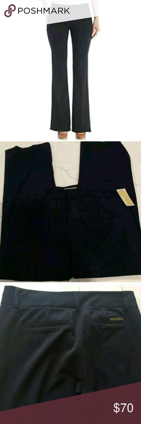 Michael Kors Womens Navy Blue Derby Dress Pants Michael Kors women's navy blue Derby dress pants Michael Kors Pants Trousers