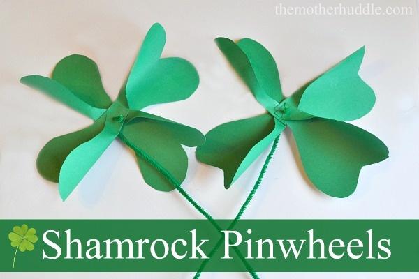 Shamrock Pinwheel Craft