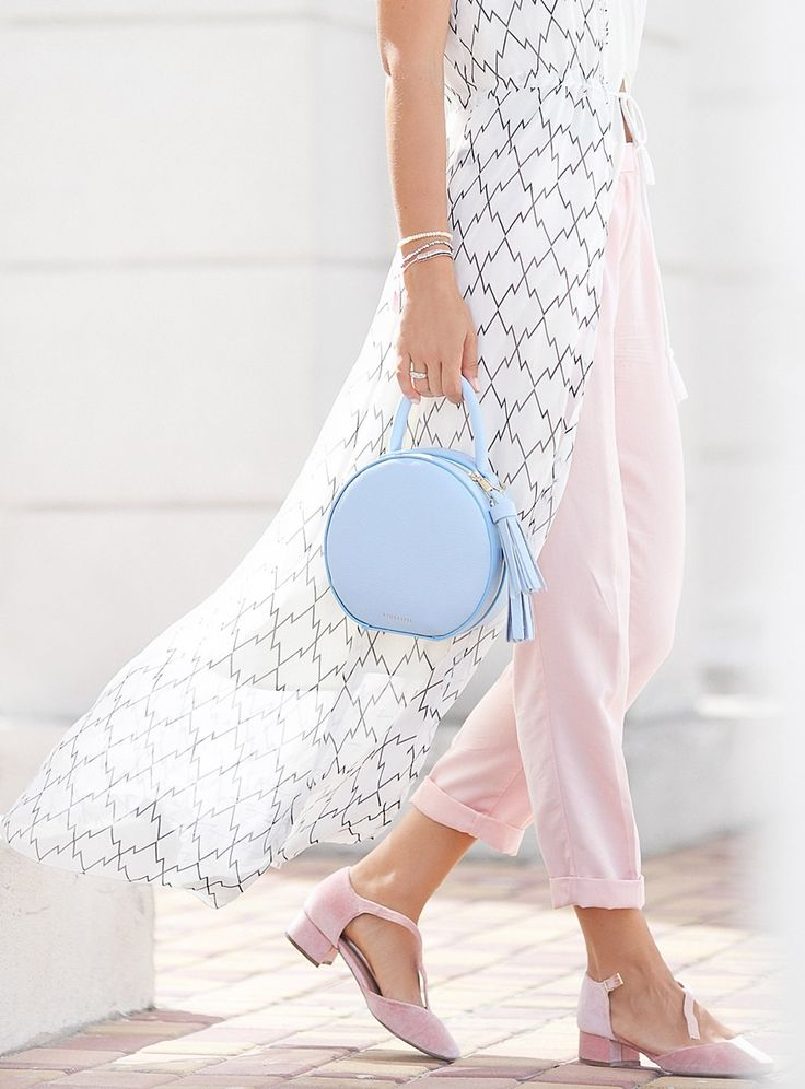 street style details, leather circle bag,
