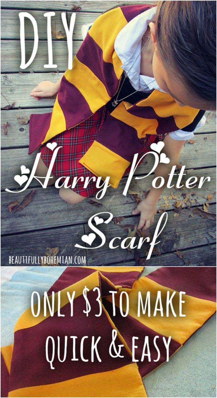 DIY Harry Potter Scarf!!