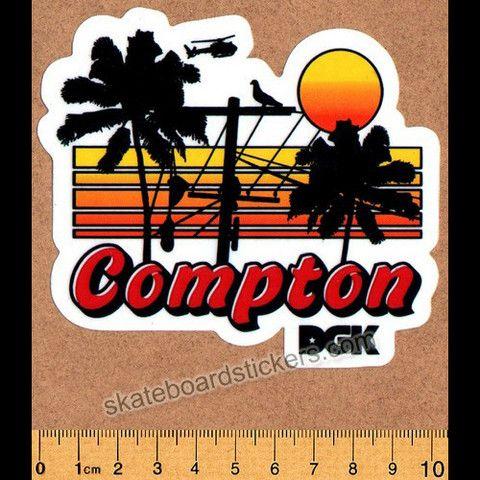 DGK - Compton Summer Nights - Dirty Ghetto Kids Skateboard Sticker - SkateboardStickers.com
