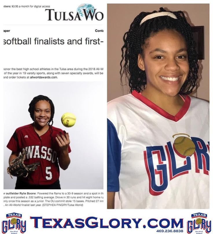 Rylie Boone ('19, OU) is Tulsa World Today All-World 1st Team and All World POY Finalist. The junior outfielder plays on Texas Glory's top 18u squad currently ranked #6 Nationally by U.S. Club Softball.