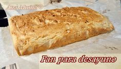 Pan desayuno sin gluten, sin lactosa, sin azucar