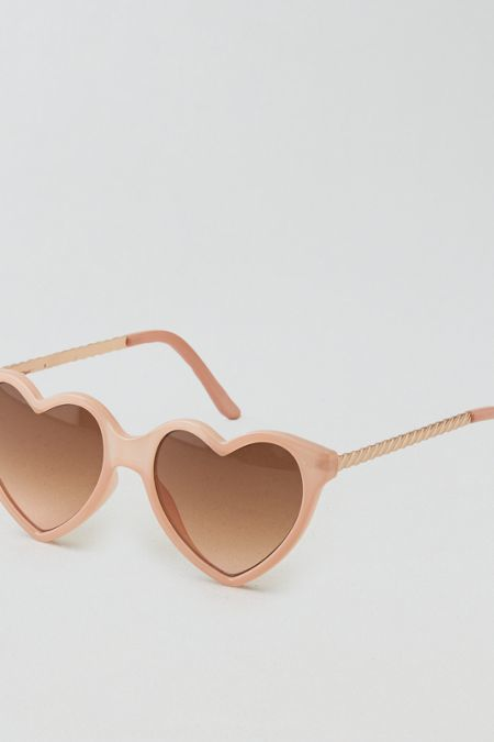 American Eagle Outfitters AEO Heart Sunglasses   Baby put on heart shaped sunglasses, because we're gonna take a ride.