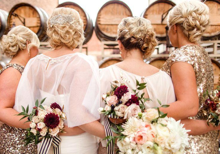 Photography: Megan Robinson Photography - megan-robinson.com/  Read More: http://www.stylemepretty.com/2014/03/04/winter-glam-black-white-wedding/
