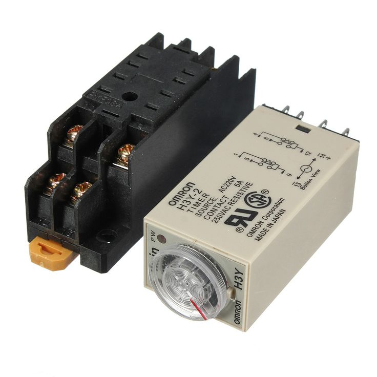 H3y-2 220v Power On Time Delay Relay Solid-state Timer Dpdt Socket. Description : 	 	H3Y-2 220V Power On Time Delay Relay Solid-State Timer 1.0~30Min DPDT Socket 	 	Time Delay Relay, Solid-State Timer H3Y-2-30M, 1.0~30M, On-Delay,  DPDT, 8Pins 220VAC 	Contact Form : DPDT 	Pins : 8 	Function : On-Delay 	Contact Amp Rating (Resistive) : 5 	Coil Volts : 220VAC 	Rated Time Range : 1.0~ 30Min. 	 	Dielectric Strength : 2000V 50/60Hz Min(Not include DC12V) between current-carrying and exposed…