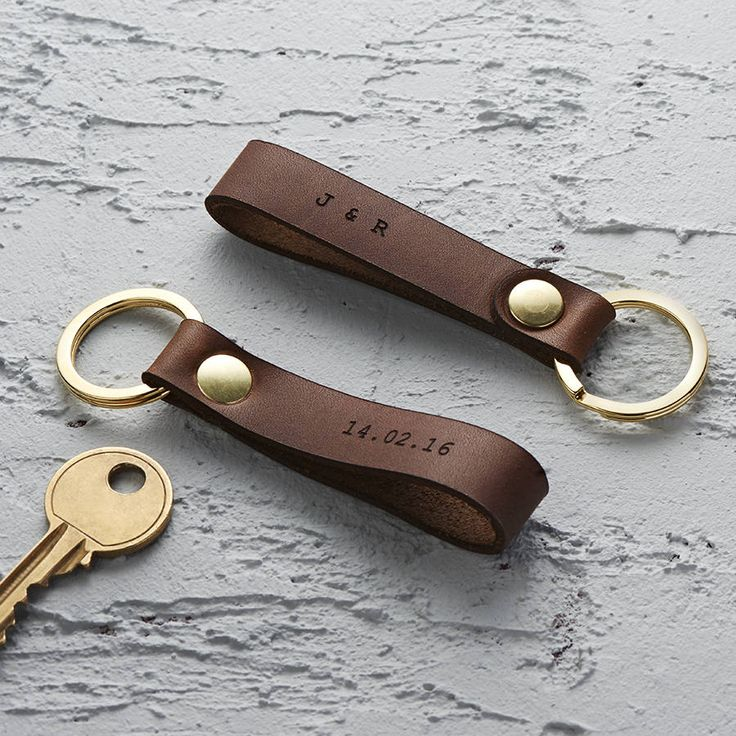 Are you interested in our anniversary gift for him? With our personalised leather keyring you need look no further.
