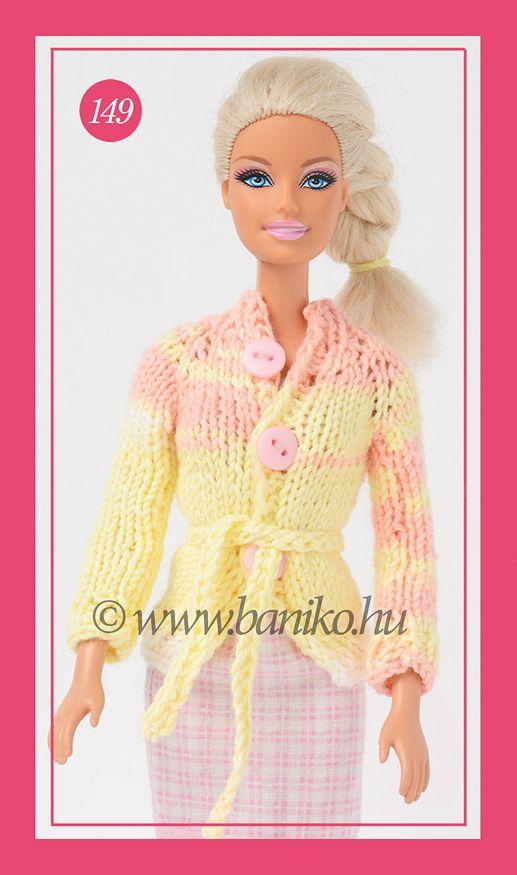 Tutti-frutti kötött Barbie kardigán