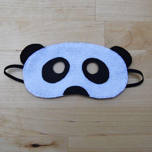 Globers Máscaras de animales en fieltro para niños. Panda. Cumpleaños y fiestas. Cool parties. Animals felt masks. Kids.