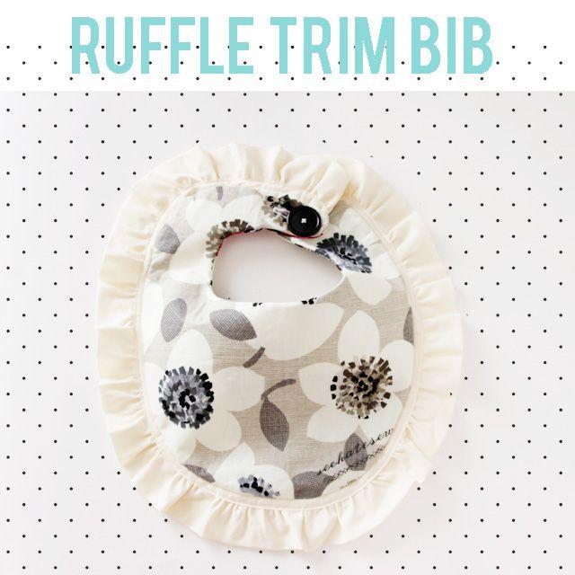 free ruffle bib pattern + Benartex fabric giveaway! - seekatesew