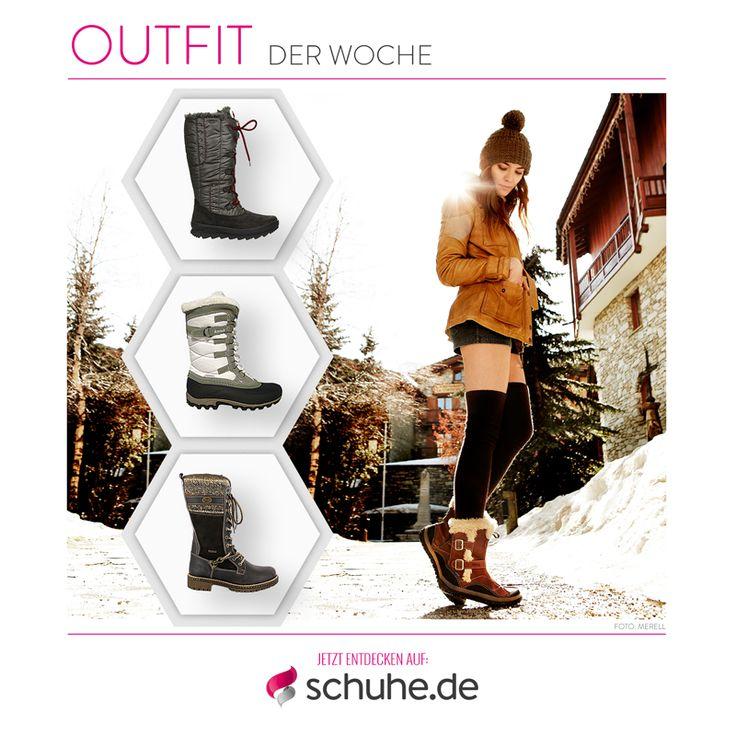 Bei den jetzigen Minusgraden helfen nur warme, funktionale Winterstiefel. Wie Ihr sie trendig kombinieren könnt, lest Ihr im Artikel zu unserem Outfit der Woche: http://www.schuhe.de/outfit-der-woche-damen-winterstiefel-fuer-den-schneespaziergang---a-908.html