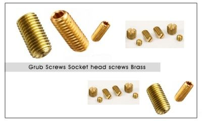 #BrassGrubScrews  #Socketheadscrews  We are manufacturers of cold headed Brass grub screws Socket head screws Cap screws Brass set screws with hex socket. These screws are forged form high quality Brass cold heading quality wires and formed on automatic machines with roll threading. These screws are available in metric and well as inches. We can also offer slotted Brass grub screws. e are one of the largest manufacturers from Jamnagar India of grub screws socket screws and set screws.