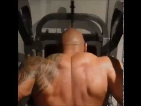 """Dwayne """"The Rock"""" Johnson Working Out 2013 FOCUS <3 I like to watch this to motivate me in the morning..I love (The Rock) great motivator to hit the gym, awesome personality, good music in the back ground,  easy on the eyes, love his smile…R. (Focus!!)"""