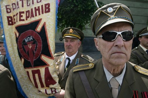 These are Ukrainian heroes. Actually these are fucked Nazis. A lot it is possible to read about UPA felonies on the Polish and Russian nation. On western Ukraine however these are liberators.