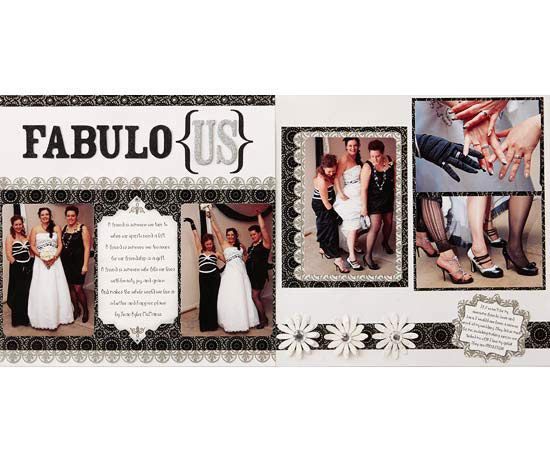 Fabulous Wedding Layout for Scrapbook